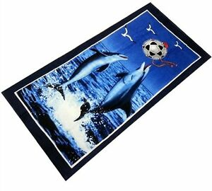 """Dolphins Playing Ball Towel beach Cotton 30"""" x 60"""" new"""