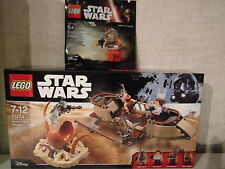 Lego Star Wars 75174 Desert Skiff Escape + Rebel A-wing Pilot - NEU & OVP