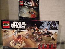 Lego Star Wars 75174 Desert Skiff Escape + rebel A-Wing Pilot-NOUVEAU & NEUF dans sa boîte