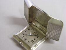 Rare montre boucle de ceinture en argent Tavannes belt buckle watch Swiss Hermes