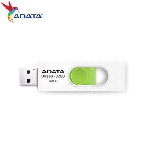 ADATA 32GB / 64GB / 128GB UV320 Capless Design USB 3.1 USB Flash Pen Drive WHITE