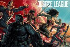 "Justice League Movie Poster 2017 DC Comics Art Film Print 13""x20""  003"