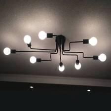 Industrial Vintage Semi Flush Ceiling Chandelier Light Steampunk Pendant Lamp