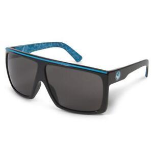 Dragon Sunglasses FAME Palm Springs Pool Color - Gloss Black / Aqua Blue *NEW*