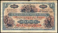 1949 THE CLYDESDALE BANK LIMITED £1 BANKNOTE * C 4357215 * aF *