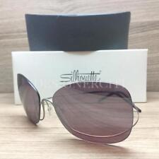 Silhouette Titan One 8151 10 6246 Sunglasses Titanium Silky Matte Bordeaux