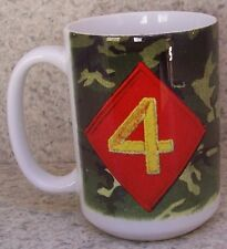 Coffee Mug Military Marine Corps 4th Division NEW 14 ounce cup with gift box