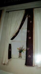 Cream Embellished Curtains