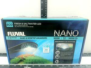 FLUVAL ECO NANO FRESH & SALTWATER AQUARIUM LED HIGH OUTPUT 9000K  A3974  NIB