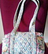 Vera Bradley Duffel Style Purse Shoulder Bag in Blue Pastel Vintage