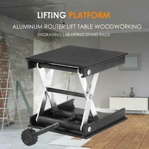 Aluminum Router Lift Table Woodworking Engraving Lab Lifting Stand Rack UK