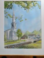 Fine Art Watercolor, Dan Britt, U.C.C., C.R.  Wilbur's Store, Little Compton, RI