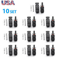 10X New Male Female M/F Wire Cable Connector Set Solar Panel 30A Waterproof Us