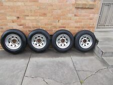 CHROME SUNRAYSIA 14X6 STEEL WHEELS SUIT TOYOTA NISSAN MAZDA PCD 139.7 & LT TYRES