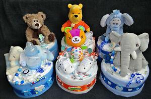 Baby Windeltorte Geschenk zur Geburt Taufe Paket Erstausstattung Junge Mädchen