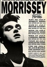 20/7/91 Pgn40 Advert: See Morrissey In Concert The Live Dates July 1991 7x5