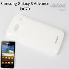 Jekod white TPU gel s. case cover+screen protector for Samsung Galaxy S Advance