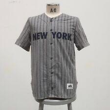 Alife New York Pinstripe Wool Baseball Jersey Size M Streetwear NYC