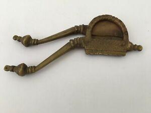 Old Brass Engraved Handicraft  Figurine Betel Nut Cutter Sarota Collectible