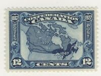 Canada Stamp Scott # 145 12-Cents Map MH