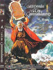 The Ten Commandments All Region DVD 1956 Charlton Heston, Yul Brynner NEW UK R2