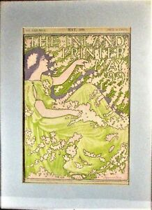 """THE INLAND PRINTER"" ART NOUVEAU FEMALE COVER BY RAYMOND PERRY, MAY, 1899,"