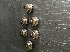 Lote de 6 Botones botones de presión hembras LATÓN CROMO ø 15 mm