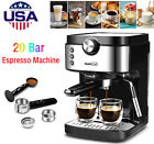 20 Bar Espresso Machine W/ Milk Frother Wand Coffee Mocha Latte Cappuccino Maker photo