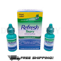 Refresh TEARS Lubricant Eye Drops, 0.5 Fl Oz Each (2 Count .5oz Bottles per Box)