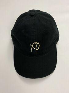 THE WEEKND XO (Gold) BLACK Adjustable Snapback One Size