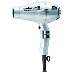 Parlux 3800 Eco Friendly Ionic & Ceramic Silver hair dryer, free ship Worldwide