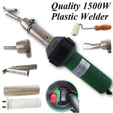 1500W Hot Air Plastic Welder +3 Nozzles(Flat/Tubular/Speed) +Roller/Spare Heater