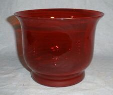 """Ruby Red Glass Compote Bowl Vase  4 ½"""" x 6""""   EUC"""