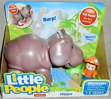 NEW  FISHER  PRICE  LITTLE  PEOPLE  BIG  ANIMAL  ZOO  HIPPO