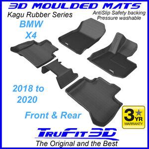 Fits BMW X4 2018 - 2020 Trufit 3D Black Rubber Car Floor Mats