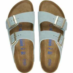 Birkenstock Arizona Soft Footbed Light Blue Suede Leather Sandal - Choose Size