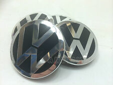 RANGE Rover Sport Vogue per VW T5 LEGA RUOTA Nero & Cromato BADGE centro CAP
