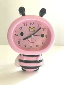 """Lovely Pink Honeybee Style Standing Clock 6.5""""  Great Kids Gift and Room Decor"""