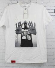 New LA FAMILIA MMXIV Mens Don't Shoot Diddy Short Sleeve T-Shirt Medium White