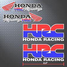 4P. HRC HONDA RACING WING DECALS STICKER PRINTED DIE-CUT MOTOR AUTO MOTOR SPORT