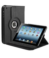 360 gradi rotazione PELLE SMART STAND CASE COVER PER APPLE IPAD 2 3 4-Nero