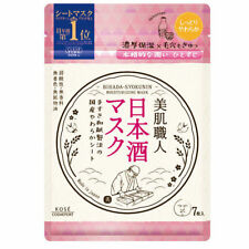 Kose Clear Turn Bihada Syokunin Beautiful Skin Japanese Sake Mask Moist 7 Sheets