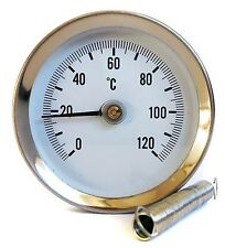 PIPE SPRING CLIP-ON THERMOMETER ECONOMY TYPE 63mm 0/120C UK SELLER FAST DELIVERY