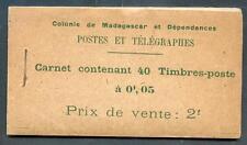 MADAGASKAR 1908 DALLAY 1a  CARNET RR(L2282b
