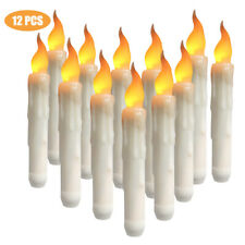 Flameless LED Taper Candle Battery Operated Dinner Home Party Wedding Xmas Light