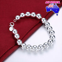 Wholesale Classic Women's 925 Sterling Silver Layered Ball Chain Bracelet Bangle