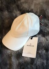 NWT Moncler Baseball Hat Lace Back White One Size