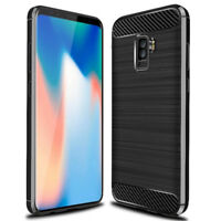 Samsung Galaxy S9 Gel Case Rugged Armor Durable Carbon Fiber Cover Skin UK