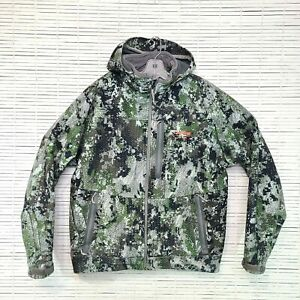 Sitka Jacket Stratus Elevated Camo Forest Camouflage Hunting Coat L AS IS *READ*