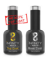 INFINITY NAILS Top and Base coat - nail gel polish - UV/LED - NO WIPE TOP 15ml